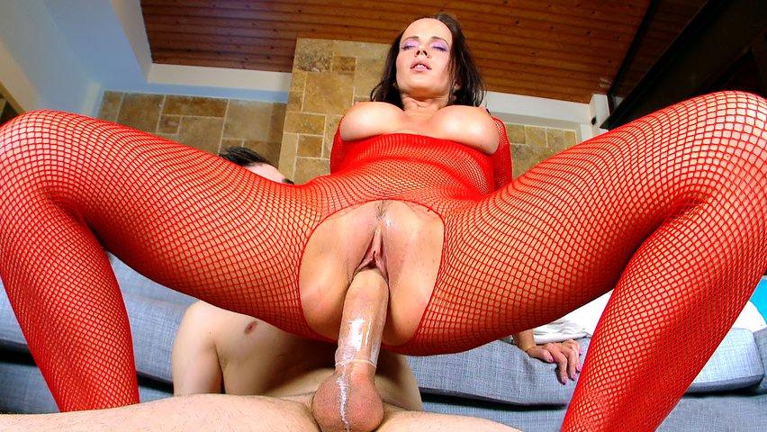 Latina Wearing Fishnet - Online szex videók pornó film