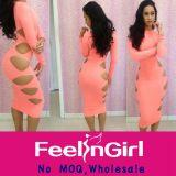 wholesale cheap elegant pink sex summer dress for mature woman