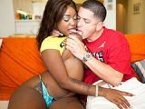 diamond mason gets nasty with a white boy milf fox