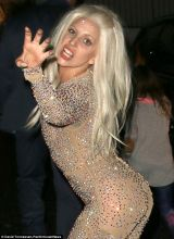 lady gaga takes inspiration from britney spears as she wears a