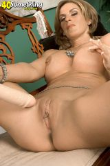 milf bombshell donging it in living room sharona gold babecake